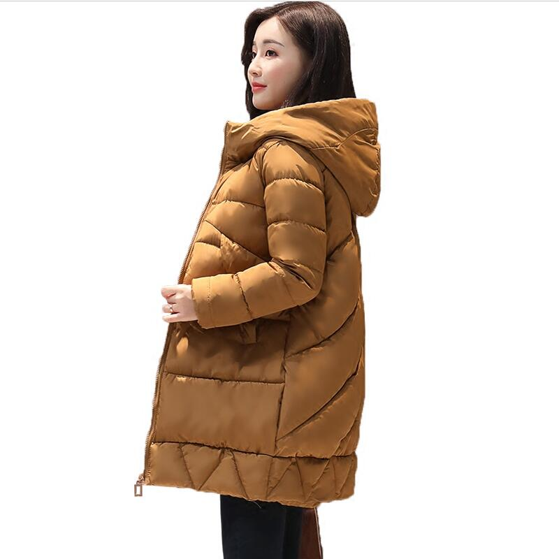 HZF SNOW PINNACLE 2017 Women Winter Parka Female Warm Thicken Middle-Long Slim Hooded jacket coat Cotton Padded Parka coat M-XXL 2017 middle aged winter jacket women thicken warm cotton padded slim plus size 6xl winter coat women parka high quality