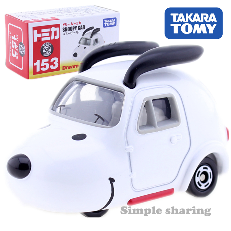 TOMICA Dream 153 Snoopy Peanuts Takara Tomy AUTO Cars Motors Vehicle Diecast Metal Model Collection Gift Kids Toys New