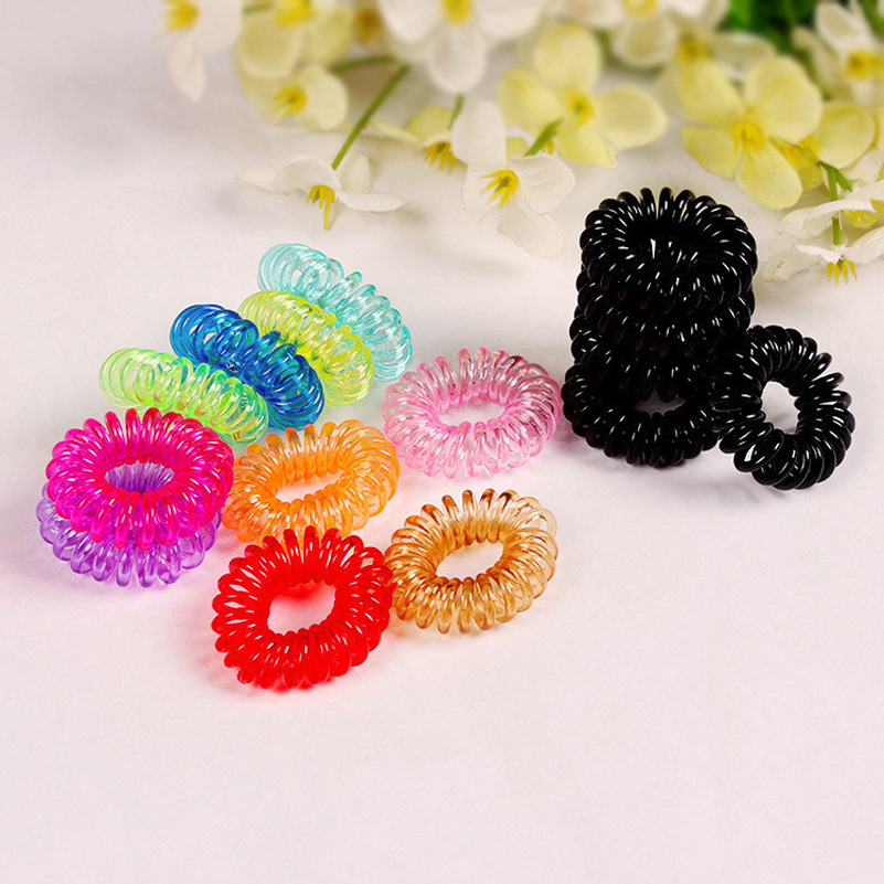 20pcs/Lot  Korea Hot Hair Rope Wholesale Telephone Wire Hair Band Hair Accessories Rubber bands Girl Hair Gum hot sale hair accessories headband styling tools acessorios hair band hair ring wholesale hair rope