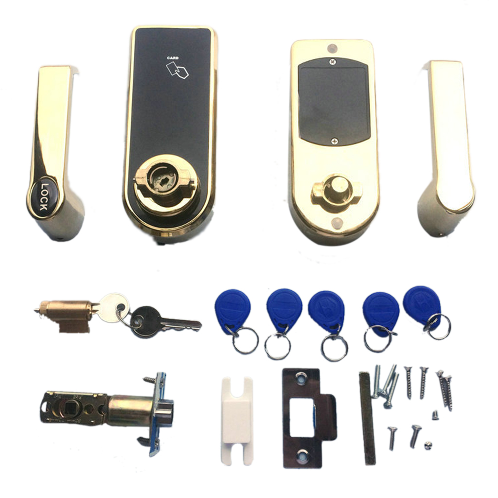 Set of Digital Electronic Code Keyless Keypad Security Entry Lock Home Mechanical Digital Door Lock with 5 RFID Tags купить недорого в Москве