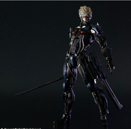 Classic Anime 28cm metal gear solid Square Enix Metal Gear Rising Revengeance Action Figures PVC brinquedos Collection Kids toys 2016 new style hot sale new style synthetic wigs short straight hair wig for women glamorous fashion free shipping