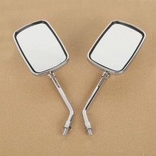 Rectangle Side Rear View Mirrors For YAMAHA XV1100 XVS1300 400 DS400 XV1900 1700 Motorcycle kenwood ds400