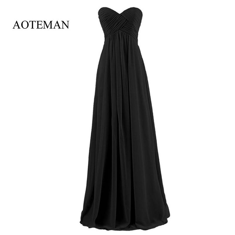 ab953e5749c1 2019 Elegant Chiffon Bridesmaid Wedding Long Party Dress Women Summer Sexy  Strapless Maxi Dresses Female Plus