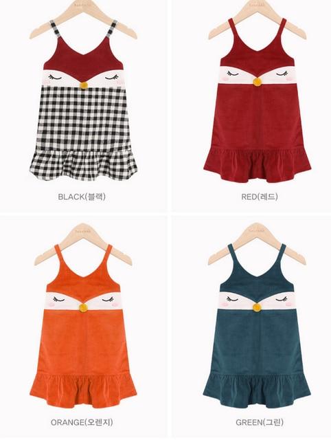 Trendy Kleid 2017 Mode Mädchen Strumpf Kleider Baby Fox Drucken ...