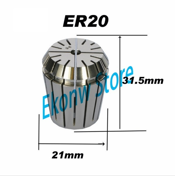 Free Shipping 1-13mm ER ER20 Collet Chuck for Spindle Motor Engraving/Grinding/Milling/Boring/Drilling/Tapping