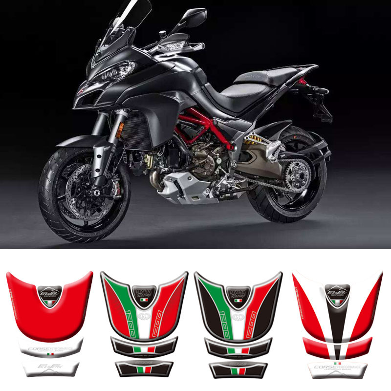 Motorcycle 3D Fuel Tank Pad Protective Stickers Decals For Ducati Multistrada 1200 2010-2014 Stickers