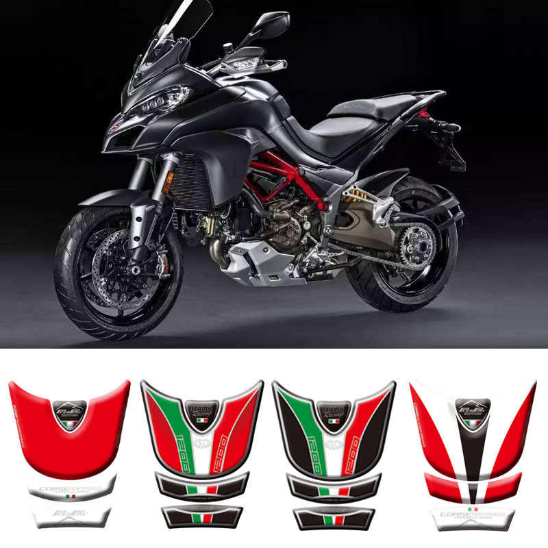 Stickers gel 3d guards Tank Compatible motorcycle ducati multistrada 1260