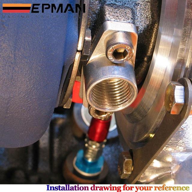 Nouveau aluminium an10 1/2NPNT T3 T4 TURBO huile vidange retour bride adaptateur KIT joint EP-TF007