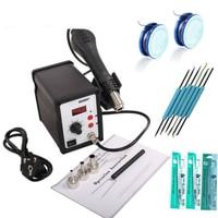 110V 220V 700W YOUYUE 858D Soldering Station LED Digital Solder Iron Desoldering Station BGA Rework Solder