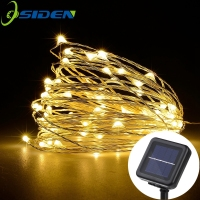 LED Christmas Lights Solar 10M 100 LED Copper Wire Solar Power String Fairy Light Xmas Wedding