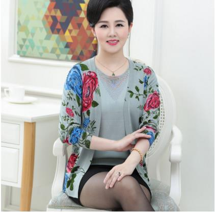 Retro 2018 autumn shrugs feminino blusa tricot women knitting twinset sweater female long sleeve cardigan plus size tops S261