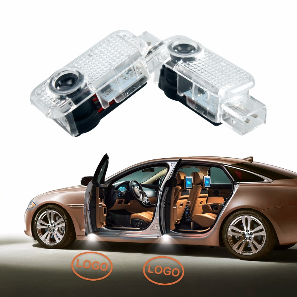 New Arrival 2Pcs Aluminum & PC Laser LED Car Door Courtesy Projector Ghost Shadow Light for Volkswagen VW Passat B5 B5.5 Phaeton car door welcome laser projector logo door ghost shadow led light for vw volkswagen tiguan golf 5 6 7 passat b7 eos etc