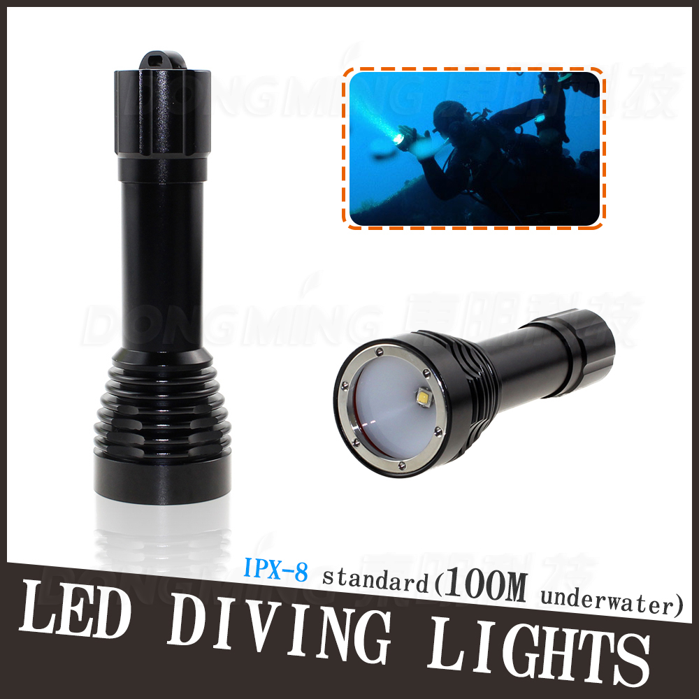 100M Diving 1000Lm Underwater Flashlight 1 x CREE XM L2 LED Torch Light Waterproof  Brightness Durable diving light 6 x cree xm l2 led scuba diving flashlight light waterproof underwater 100m torch use 32650 battery