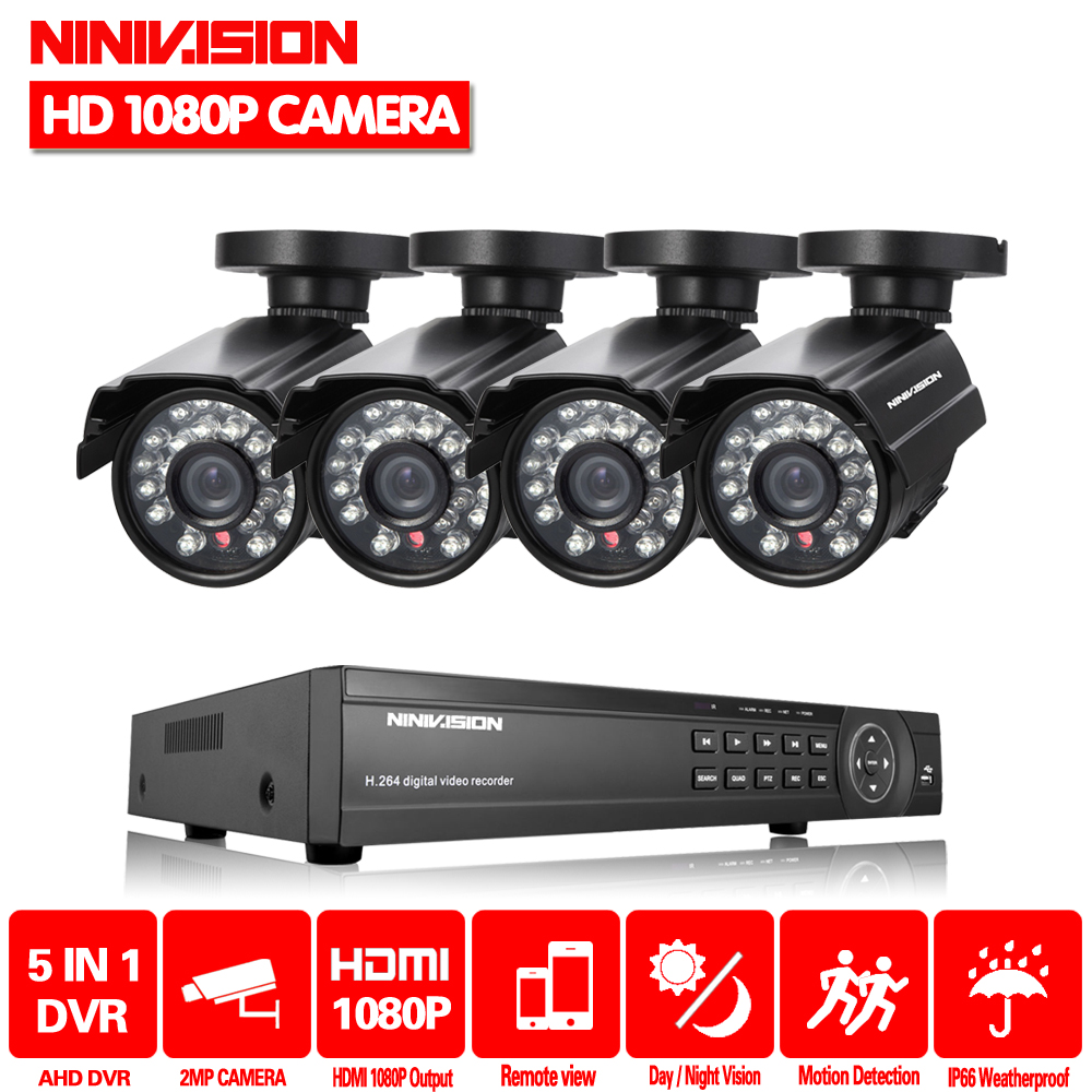 Home 8CH AHD 1080P 1080N HVR DVR NVR Security Camera System 4* 1080P HD outdoor Camera CCTV Kit Video Surveillance CCTV system teate ahd 960h 8ch 900tvl cctv video surveillance system onvif nvr dvr recorder kit 8ch home security camera surveillance ck 159