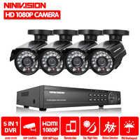 Home 8CH AHD 1080P 1080N HVR DVR NVR Security Camera System 4* 1080P HD outdoor Camera CCTV Kit Video Surveillance CCTV system