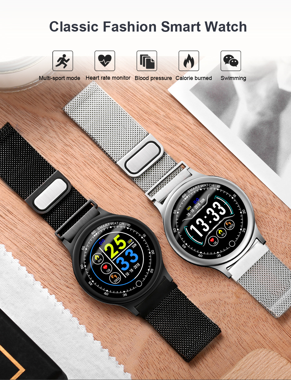 Q28 Smart Watch IP67 Waterproof Wearable Device Bluetooth Pedometer Heart Rate Monitor Men Fashion SmartWatch For AndroidIOS (1)