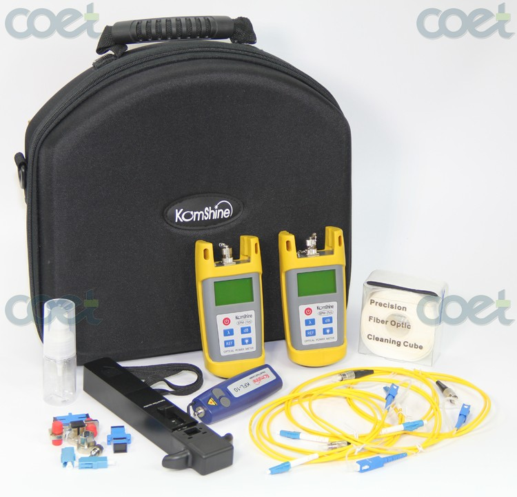 Komshine_fiber_optic_toolkit_KLT-25M-F_with_fiber_identifier_fiber_optic_power_meter_fiber_optic_light_source