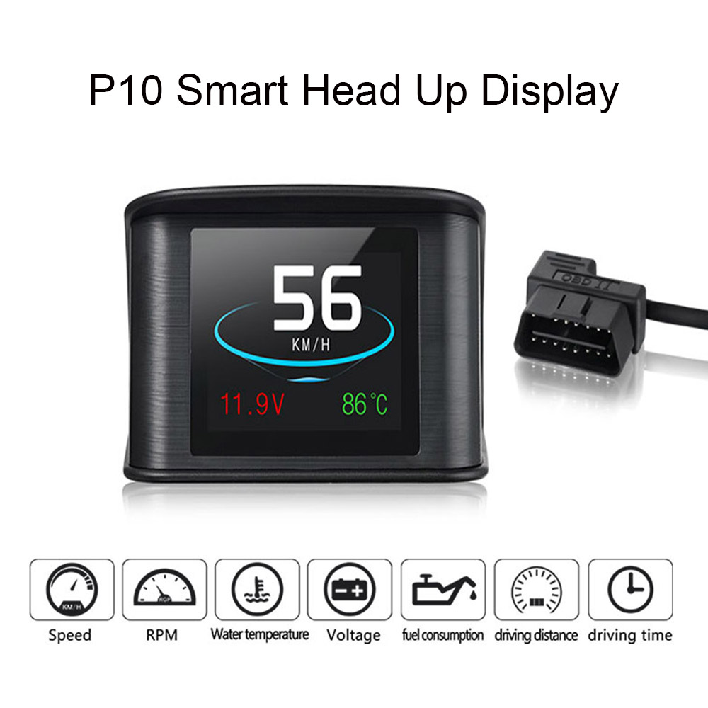 smart digital p10 hud head up display speedometer car. Black Bedroom Furniture Sets. Home Design Ideas