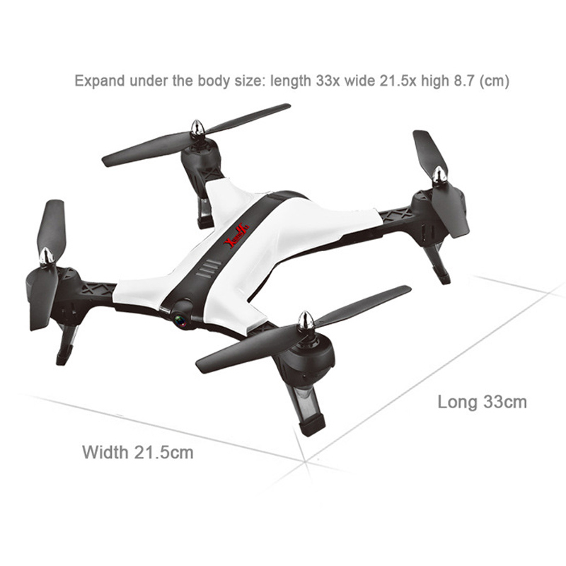 New RC Helicopter Drone with Camera HD 720P WIFI FPV RC Drones Professional Foldable Quadcopter X 17 VS VISUO XS809HW E58 X12 in RC Helicopters from Toys Hobbies