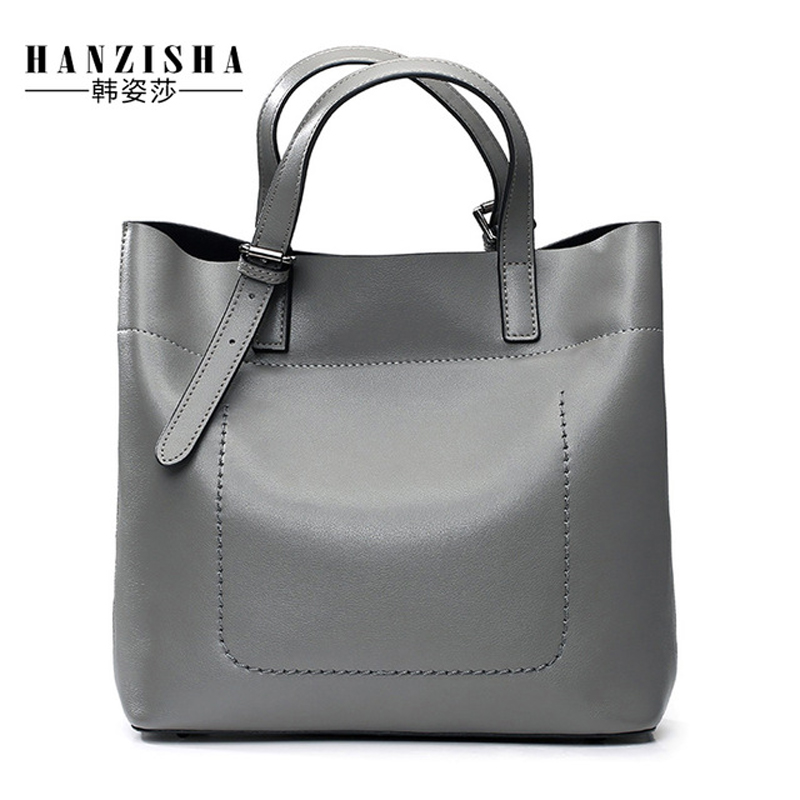 цена на 2018 New Brand Genuine Leather Women Bag Luxury Designer Leather Lady Handbag Famous Brand Bag Women Fashion Shoulder Bag Tote