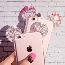 Cases For iPhone 7 Plus 6 6S Plus SE 5 5S HIgh Quality Rhinestone 3D Mickey
