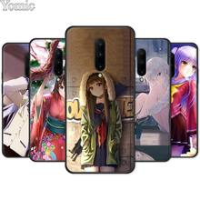 Silicone Phone Case for Oneplus 7 7 Pro 6 6T 5T Soft Cover Shell for Oneplus 7 7Pro Sweet Anime Girl Black Case