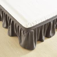 Hotel Solid Color Elastic Bed Skirt Without Bed Surface 100% Polyester Bed Apron Bedspread Bed Skirt Full Queen Size