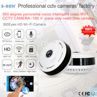 360 Degree Fish eye Panoramic WIFI Camera IP P2P Cam EC11 I6 H.264 IR Night Vision for Home Office Security Monitoring 5Colors