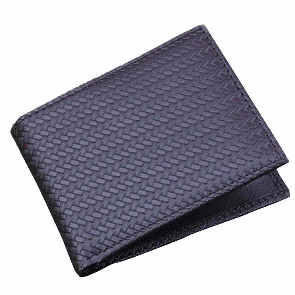 Nova tecelagem dos homens carteira de seção transversal curta ultra-fino masculino moda Bolsa Titular do Cartão de Crédito Bolsos # Zer