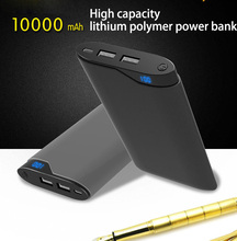 10000 Power Bank 10000mAh charge Polymer Power Bank Power Battery for Mobile Phone and Tablet стоимость