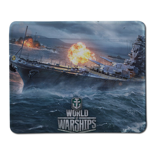 Luxury Print Non-slip World of Warships Gaming Stitched Edge Mouse Pad PC Computer Notebook Mousepad Speed Rubber Mice Mat