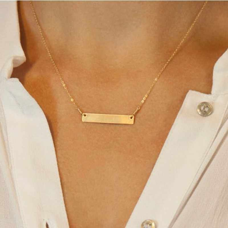 NK729 nouveau Punk minimaliste géométrique femmes clavicule collier mode Bijoux d'été porter plage Collares Bijoux bohème