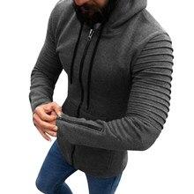 2018 invierno algodón hombres Hip Hop sudaderas Ziper Plus Size manga larga  Mens puro Sudadera con 075e90f1123