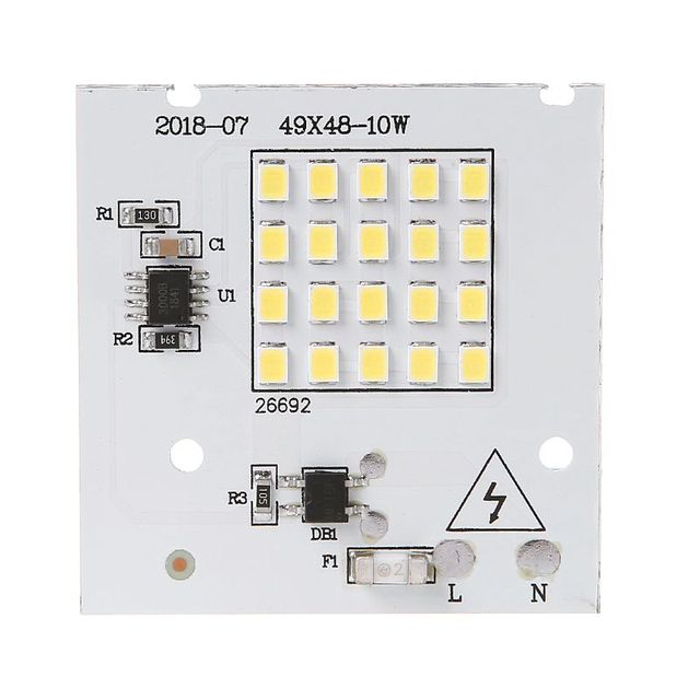 220V 10/20/30/50/100W LED Projecting Light Lamp Panel SMD Chip For Bulb With Cold White Smart IC Bean SpotLight Source Decor For