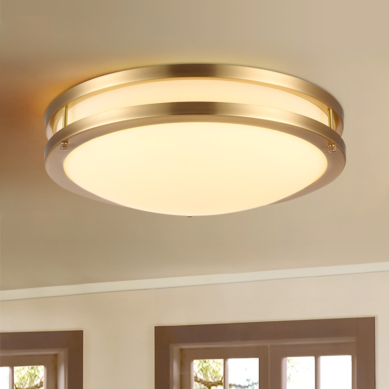 Antique Copper Led Office Lighting Fixtures Home Panel Light Daily Lighting Led Ceiling Light For Bedroom Study Ceiling Lamp Ceiling Lights Aliexpress