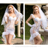 Porno Women Wedding Dress Cosplay Sexy Underwear White Lingerie Sexy Hot Erotic Apparel sexy costumes