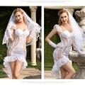 Porno vestido de casamento feminino cosplay roupa interior sexy lingerie branca sexy quente vestuário erótico trajes sexy