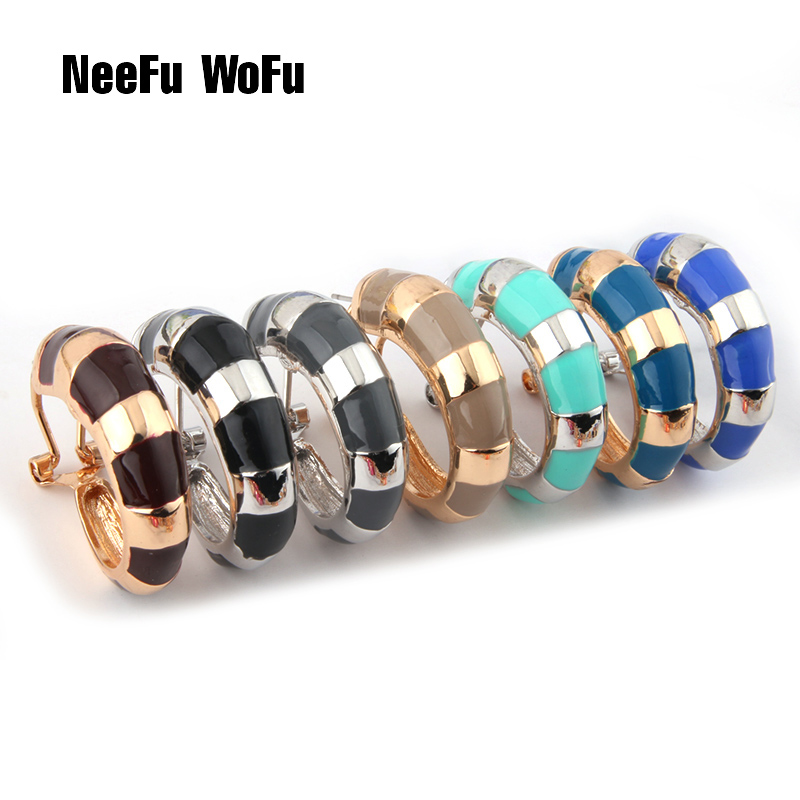 NeeFu WoFu Drop Big Earring Flash Printed Metal for Woman Ear Ring Large  Long Brinco Printing Oorbellen Earrings 75dbe7c2d4ae