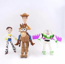 лучшая цена 8 Styles Anime Buzz Woody Toy Story 3 Buzz Lightyear Jessie Woody Pvc Action Figure Collectible Model Toy Kid Boy Birthday Gifts