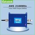 Ganho Signal Booster 70dB AWS aws 1700 2100 Repetidor De Sinal de Telefone Móvel Impulsionador com display Lcd