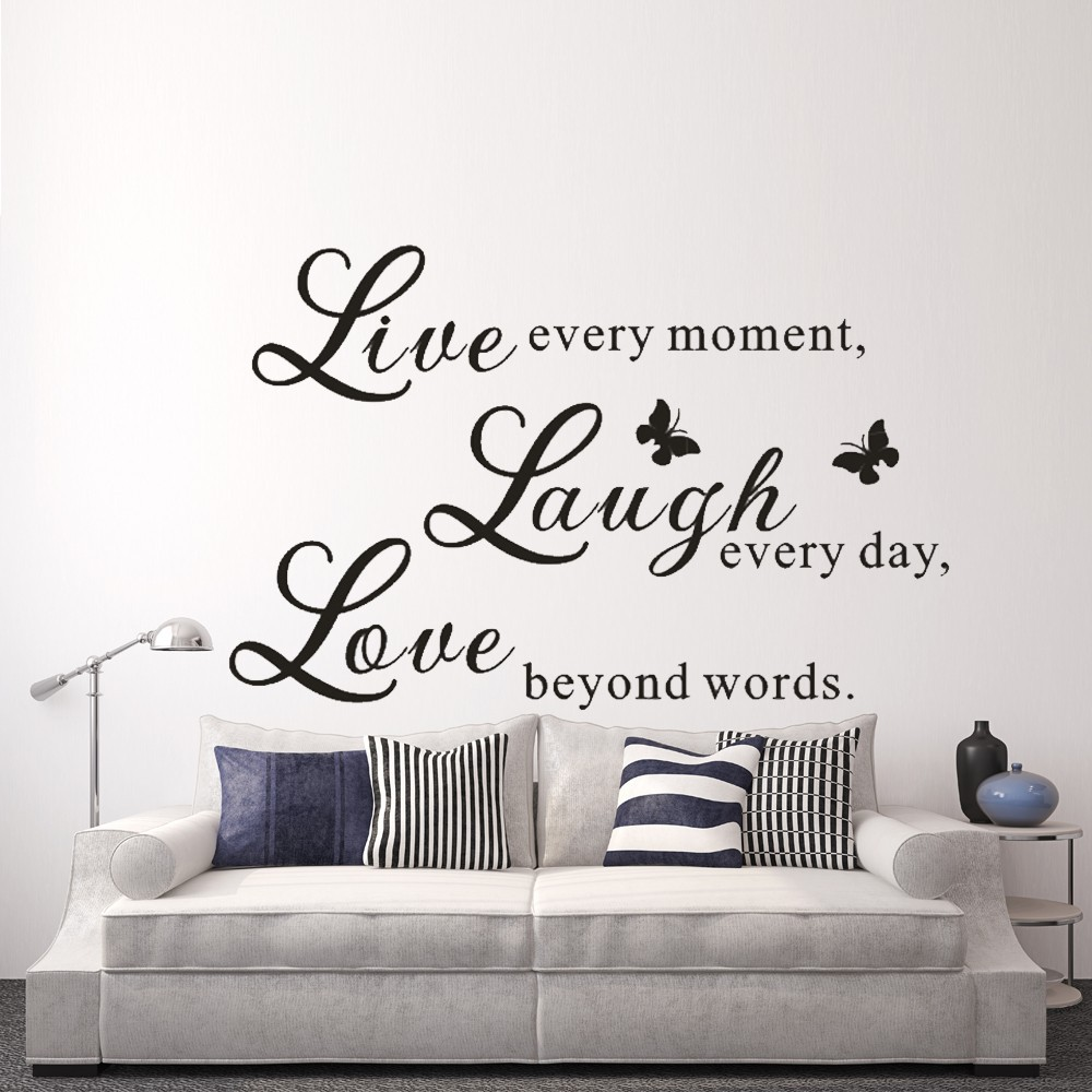 ⑥Live Love Laugh - Love Wall Decals Art Mural Quote Lettering ...