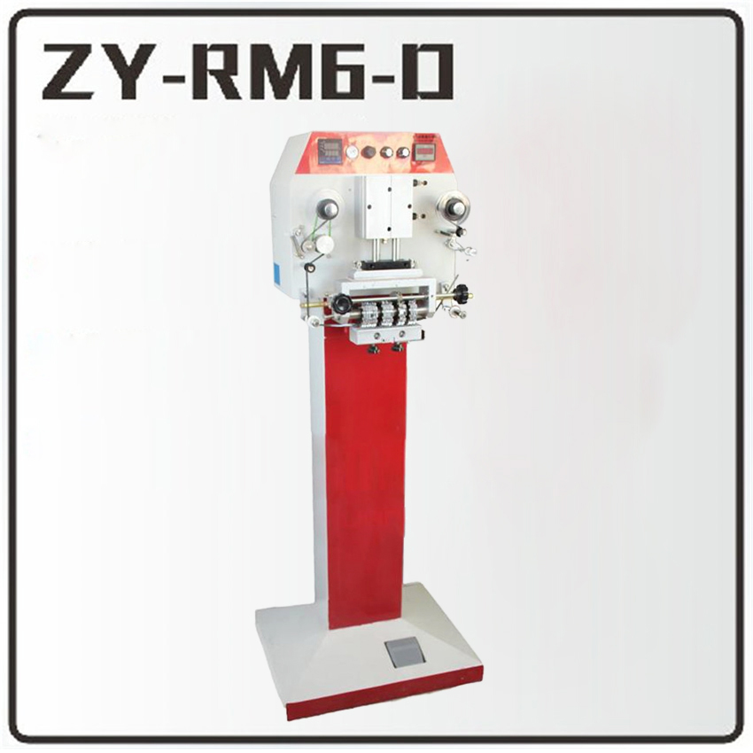 1PC ZY-RM6-D Pneumatic hot stamping machine Leather embossing LOGO Branding machine  220V   shoe ribbon coding machine hot stamping machine hot foil pneumatic stamping press logo printer for leather paper etc customized printable area zy 819b