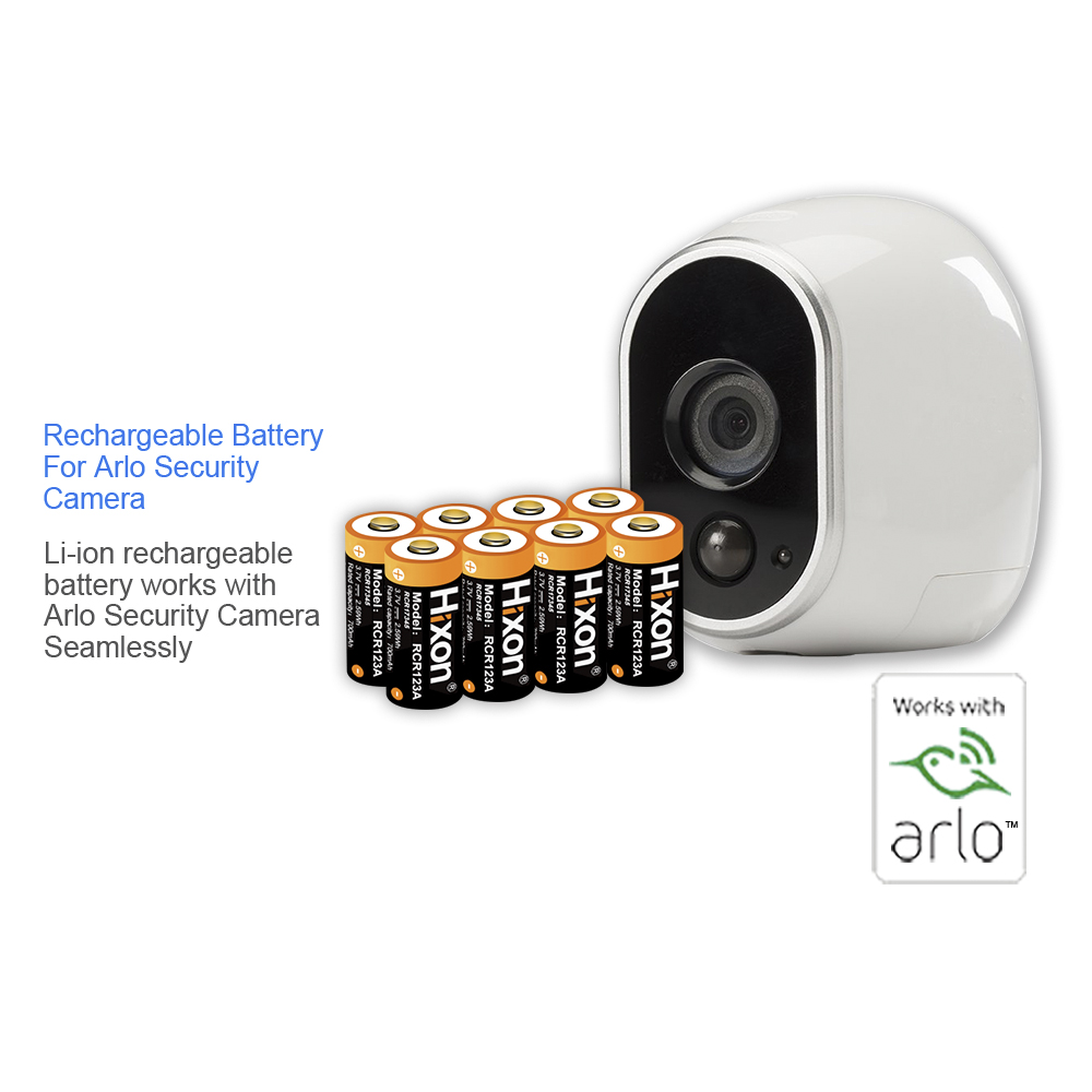 8 pcs 700mAh 3.7V RCR123A Lithium-ion Rechargeable Batteries for Netgear Arlo HD Cameras and Reolink CE,UL&FCC certificated стоимость