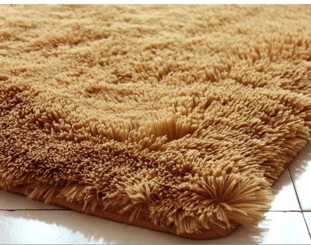 100 100cm Square Shape Khaki Color Carpet Child Door Mat