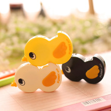 1pc 4.2*7*1.2cm Creative QQ Happy Animals Meng Duck Modified Tape Cute Learning Supplies Student