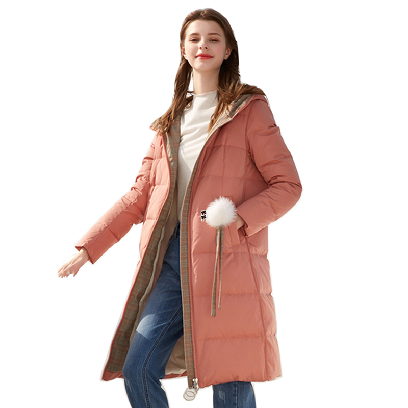 New Women's Winter   Down   Jackets Female Long Hooded   Down     Coat   High Quality Thick Warm White Duck   Down   Parka White Goose   Down     coat