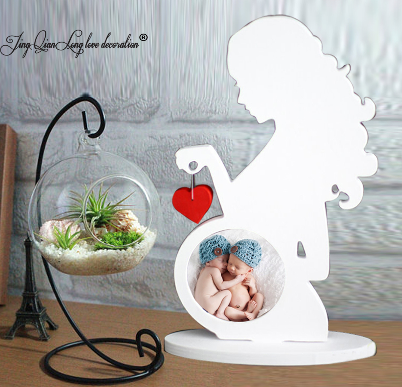 baby picture frame Ultrasound Sonogram frame. Gift. Pregnant woman silhouette. Nursery decor Standing Letters Sign