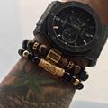 Fashion Jewelry anchor CZ Anchor Charm Bracelet Men Casual Natural Agate Stone Beaded Bracelet Vintage Punk Bracelet Women