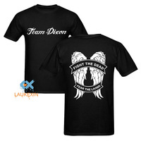 Team Dixon T Shirt Fight The Dead Fear The Living The Walking Dead Zombie Daryl Dixon