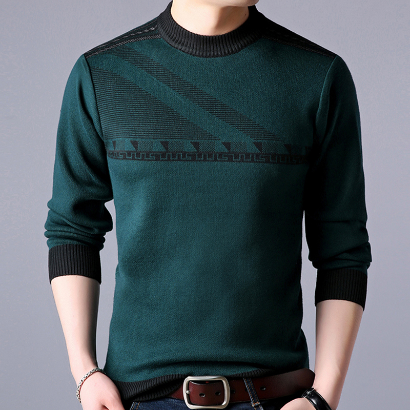 2018 new line pull mens sweaters casual thick male pullover sweater slim fit men blusa masculina clothes jersey sweter man 31890